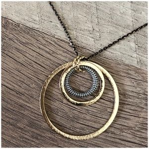 Banana Republic Hammered Metal Circle Necklace